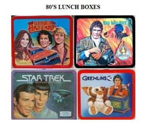 Cool vintage kids metal lunch boxes from the 1980s