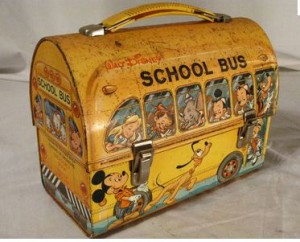 School Bus Tin Lunch Box