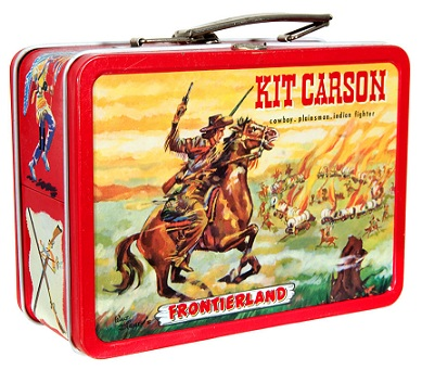 ADCO Kit Carson Davy Crockett Lunchbox Back